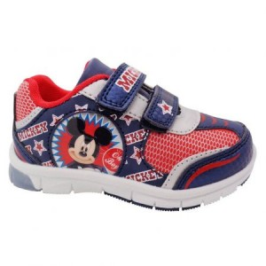 Incaltaminte sport Mickey Mouse, cu beculet