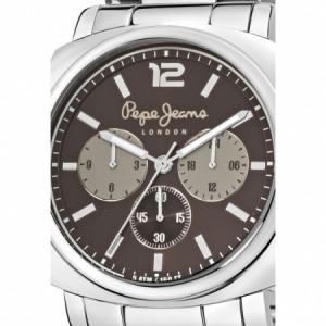 Ceas cronograf argintiu cu maro Howard 2
