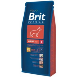 Hrana uscata pentru caini, Brit Premium Dry, Adult L, 15 Kg