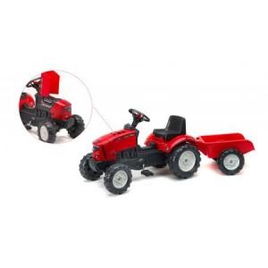 Tractor Falk pentru copii cu pedale si remorca 2